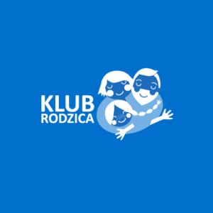 Logo Klubu Rodzica na niebieskim tle