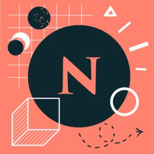 Graficzny symbol nowości - litera N