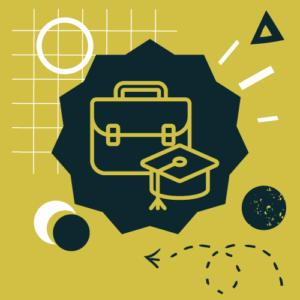 Grafika ilustracyjna dla kafla staże i praktyki