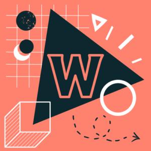 Символи геометричних фігур. На трикутнику літера В (W)