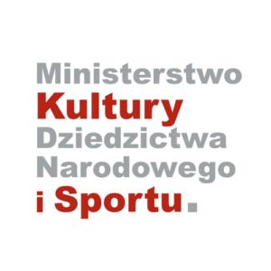 Napis Ministerstwo Kultury Dziedzictwa Narodowego i Sportu.
